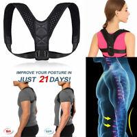 Posture Corrector Back Support Brace Figure Neck Shoulder Lumbar Pain Relief
