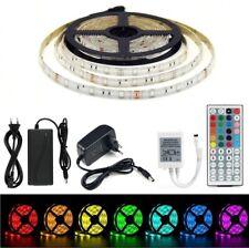 1M 2M 3M 4M 5M LED Strip RGB SMD 5050 Streifen Leiste Band Set mit 12V Netzteil