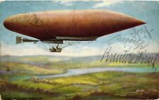 Aviation, Zeppelin, The Lebaudy Airship, Old Postcard