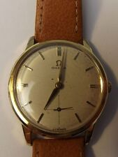 Omega Mechanical (Hand-winding) Gold Plated Strap Watches