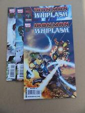Iron Man Vs Whiplash 1 - 4 . Lot Complet . Marvel 2010  .VF