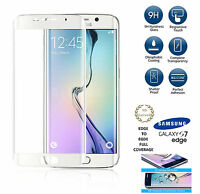 Curved 3D Tempered Glass Screen Protector cover For Samsung Galaxy S7 Edge White