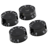 4 Pcs Black Guitar Speed Control Knob for Guitar Parts