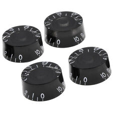 4*Black Guitar Speed Control Knob Anti-clockwise for Gibson Les Paul replacement