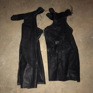 Motorcycle Chaps Vintage Leather
