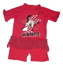 Girls UV Sun Protection Sunsuit All In One Costume UPF 40 + Disney Minnie Mouse