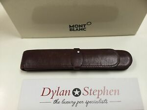 Montblanc Meisterstuck burgundy leather one pen pouch