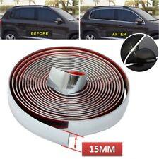 More details for chrome moulding trim strip car door edge scratch guard protector 15m 15mm
