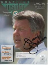 JIMMY JOHNSON SIGHNED AUTOGRAPHED DOLPHINS INSIDER JSA EE24771