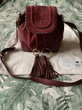 See by Chloe Polly Crossbody Bag - Burgundy Red Leather & Suede