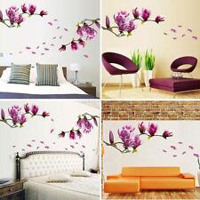 Removable DIY Magnolia Flower Wall Decal Vinyl Sticker Mural Art Room Decor UK