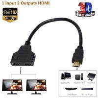 2 in 1 HDMI Hub Splitter Kabel Umschalter Verteiler Switch Adapter Full HD1080P