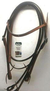 "Royal King Medium Oil Leather ""Frontier"" Horse Size Headstall and Reins 42-31095"