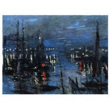 CLAUDE MONET PEINTURE the Port of Le Havre, Night effet