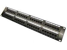 48 Port Cat5e Rj45 110 Network Ethernet Rack Mount 2U 2Ru Two Space Patch Panel