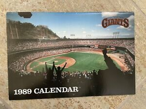 Vintage San Francisco Giants 1989 Baseball Calendar Schedule
