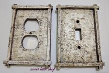 Rustic 3D Switch Plate Covers Cabin Lodge Decor Outlet Rockers Double Single