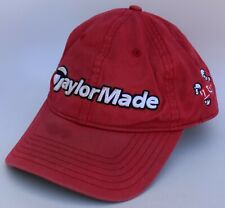 TaylorMade Golf Baseball Cap Hat To-Jo One Size Strapback Red 100% Cotton