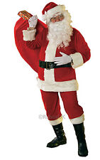 Santa Suit Velour Deluxe Costume Adults Christmas Costume Outfit Rubies Original