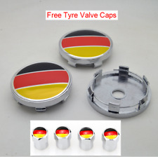 4pcs 60mm Germany Flag Wheel Center Hub Caps Fit Volkswagen Audi BMW Ford Skoda