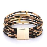 Leopardenleder Armbänder für Frauen Mode Armbänder & Armreifen Charm SchmuckXUI