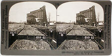 Keystone Stereoview Coal Being Shipped by Train Cars in PA from Education Set #A