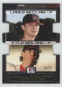2008 Prospects Plus PROminent Yellow Die-Cut /25 Kyle Weiland Lance McClain #141