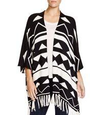NWT Ella Moss Ramy Geometric Fringe Knit Cardigan jacket Sweater Anthropologie S