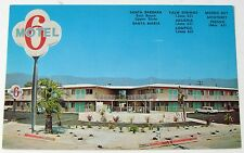 Vintage SANTA BARBARA California MOTEL 6 443 Corona Del Mar Roadside Postcard