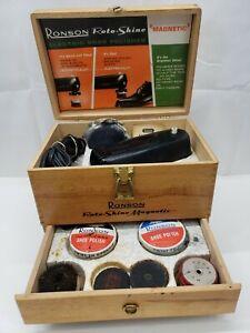 NOS Vintage 40s 50s General Store Closing Salesman Samples Austrian Schmoll Paste Shoe Shine Leather Kit Complete