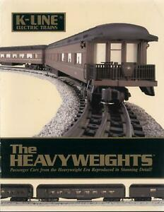 catalogo K-LINE 1990 Electric Trains HEAVYWEIGHTS Passenger Cars O Scale  E   aa