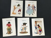 Vintage Greeting Cards by 1776 Heirlooms Litho Greeting Cards Set of 5