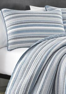Nautica Jettison Stripe 3P King Quilt Shams set