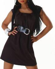 SeXy Miss Damen Mini Kleid Gürtel Trendy Dress 34/36/38 braun schwarz rot Neu