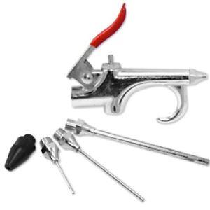 5pc Air Blow Gun Accessories Kit 3 Nozzles New Tools