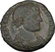 Constantine I the Great 324AD  Ancient  Roman Coin Military camp gate  i35724