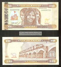 Eritrea 10 Nakfa 2012 Unc pn New