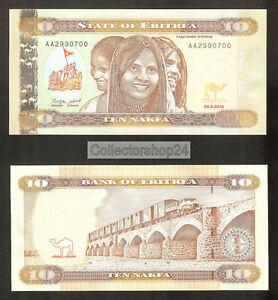Eritrea 10 Nakfa 2012 Unc pn 11a