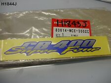 HONDA CB 400 SUPER FOUR ALL YEAR SUPER FOUR DECAL 83614-MCE-300ZC NEW OS  H1844J