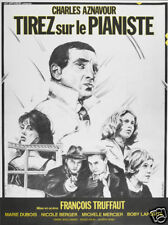 Tirez sur le pianiste Francois Truffaut movie poster print