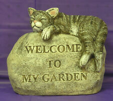 Welcome Sleepy Baby Cat Kitten Latex Fiberglass Production Mold Concrete Plaster