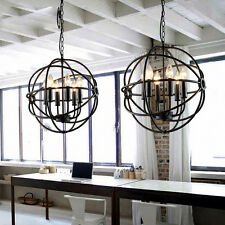 6 Lights Metal Hanging Fixture Industrial Vintage Lighting Ceiling Chandelier
