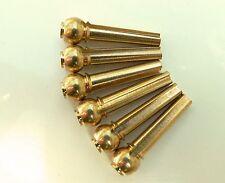 Premium Brass Flat top Bridge Pin set for acoustic guitars string pegs pins peg