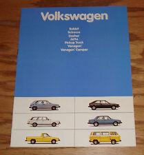 Original 1981 Volkswagen VW Full Line Sales Brochure 81 Jetta Vanagon Pickup