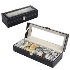 Coffret pour 6 montres boîte à montre boîtier rangement bijoux présentoir noir