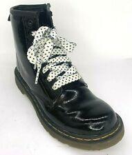 Dr. Martens Girls Delaney Patent Leather Boots AW004 Black Size US 3 UK 2