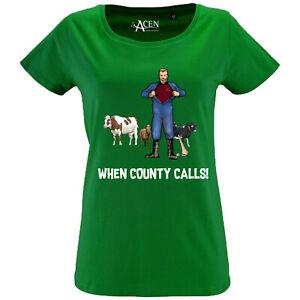 GAA hurling Tshirt Womens Hurling T-Shirt Tee 100% organic cotton