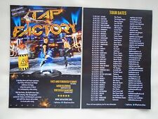 TAP FACTORY Live dance event 2017 UK Tour Promotional tour flyer