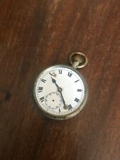 Open Face Pocket Watch 50Mm Antique Nickel Keyless Wind Swiss Lever