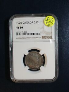 1902 Canada Silver Twenty Five Cents NGC VF30 25C Coin PRICED TO SELL NOW!
